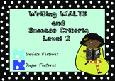 Writing WALTs and Success Criteria Level 2