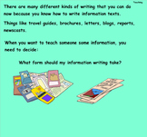 Writing Unit 2: The Art of Information Writing Grade 3 Lessons 18-20 SMART