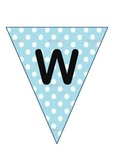 Writing Wall Display -Bunting