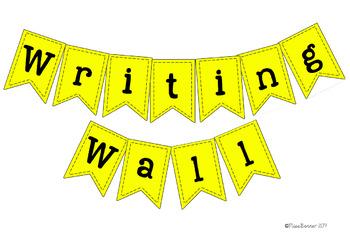 Writing Wall Display Bunting FREEBIE
