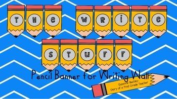 'Writing Wall' 'The Write Stuff' Pencil Banner