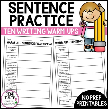 Writing Warm Up Activity - Sentence Practice