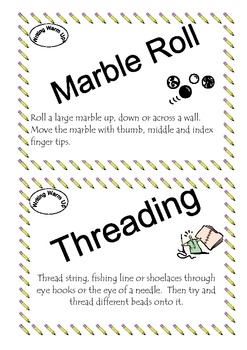 Writing Warm Up Cards and Activites - Learning Centers - Fine Motor Development