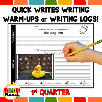 Quick Writes Daily Writing Worksheets 1st Quarter