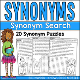 Synonym Search - 20  Word Search Puzzles