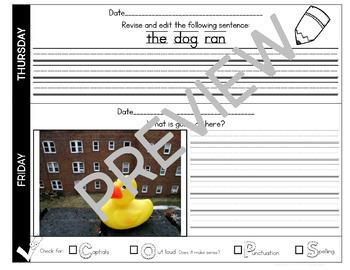 Quick Writes Writing Worksheets Full Year Bundle!
