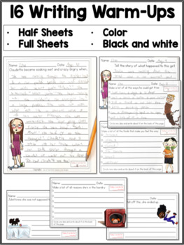 Writing Warm-Ups to Build Writing Stamina and More!