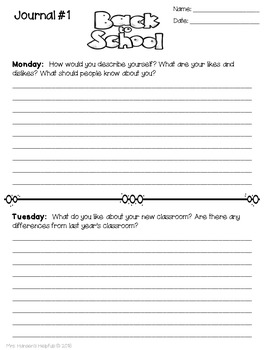 Journal Writing FREEBIE