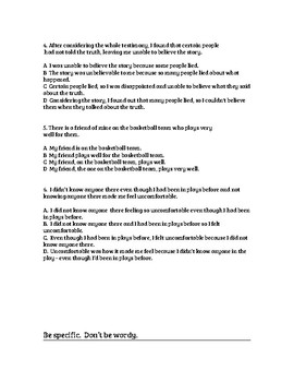 Concise Writing: Multiple Choice Worksheet