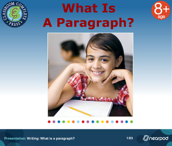 Writing: What is a paragraph?