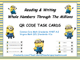 Writing Whole Numbers in Word Form and Standard Form QR Code Task Cards