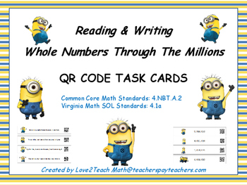 Writing Whole Numbers in Word Form and Standard Form QR Co
