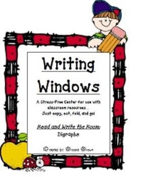 """Writing Windows"" Literacy Center: Digraphs"