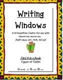 """Writing Windows"" Literacy Center: Types of Verbs"