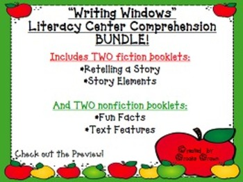 """Writing Windows"" Literacy Centers: Comprehension BUNDLE"