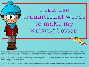 Writing Process : Using Transition Words in Writing Power Point