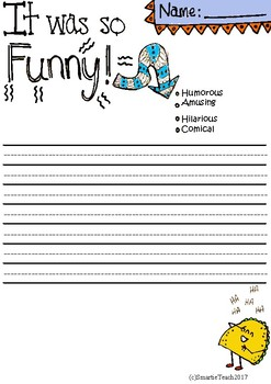 Writing With Vocabulary: Funny