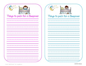 Writing With a Purpose - Templates For Your Writing Lessons
