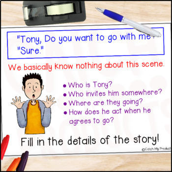 Descriptive Writing - Writing Without Dialogue for PROMETHEAN Board Use