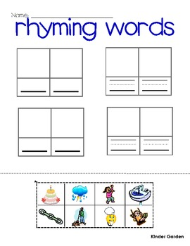 Writing Word Families and Rhyming Words