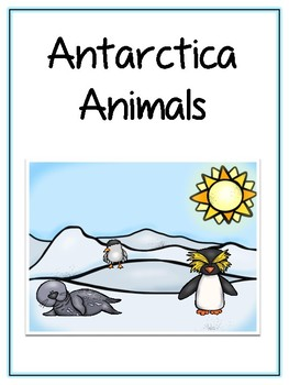 Writing Word File Folder - Antarctica Animal Thematic Folder - Picture Word Wall