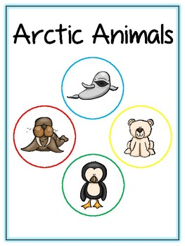 Writing Word File Folder - Arctic Animal Thematic Folder - Picture Word Wall