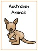 Writing Word File Folder - Australian Animal Thematic Folder - Picture Word Wall