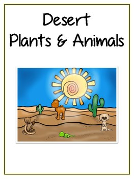 Writing Word File Folder - Desert Animal Thematic Folder - Picture Word Wall