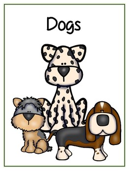 Writing Word File Folder - Dog Animal Thematic Folder - Picture Word Wall