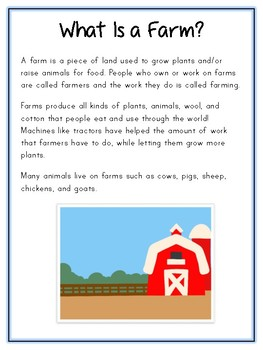 Writing Word File Folder - Farm Animal Thematic Folder - Picture Word Wall
