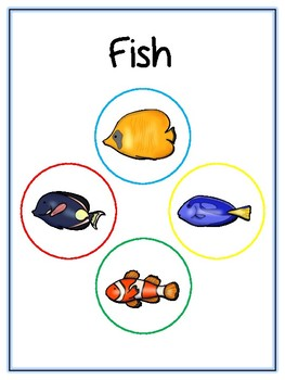 Writing Word File Folder - Fish Animal Thematic Folder - Picture Word Wall
