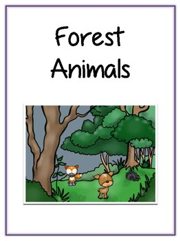 Writing Word File Folder - Forest Animal Thematic Folder - Picture Word Wall