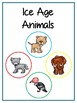 Writing Word File Folder - Ice Age Animal Thematic Folder - Picture Word Wall