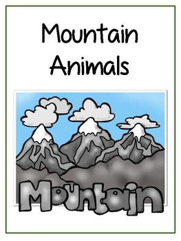 Writing Word File Folder - Mountain Animal Thematic Folder - Picture Word Wall