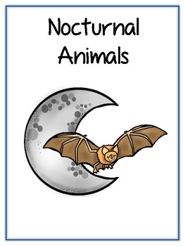 Writing Word File Folder - Nocturnal Animal Thematic Folder - Picture Word Wall