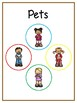 Writing Word File Folder - Pets Animal Thematic Folder - Picture Word Wall