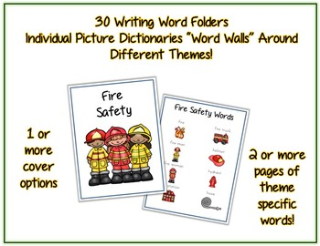 Writing Word File Folder - Thematic Folders - Pictures - Word Walls