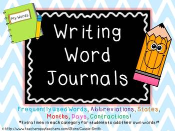 Writing Word Journals: A Young Writer's Personal Dictionary