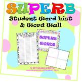 Writing Word List