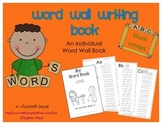 Writing Word Wall Book: Blank