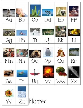 Student Writing Resource: Alphabet Photographs