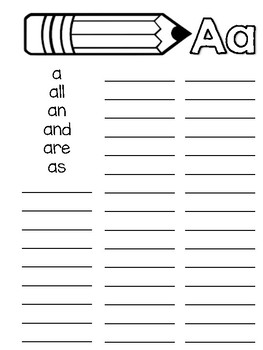 Writing Word Work Journals