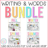 Writing Activities and Word Work Bundle for the Year