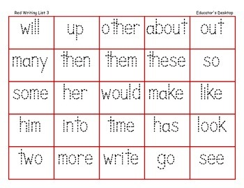 Writing Words Practice