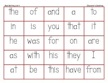 Writing Words Practice