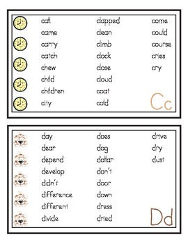 Writing Words - Student Word Wall