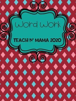 Writing Words Word Work
