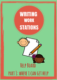 Writing Work Station Part 1 - I Can Get Help From