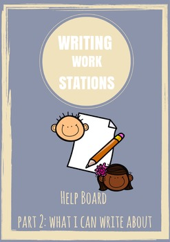 Writing Work Station Part 2 - What I Can Write About (Writ