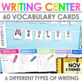 Writing Center   Kindergarten and 1st grade NOVEMBER